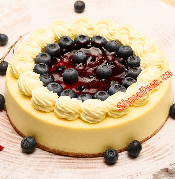 蓝莓优格芝士蛋糕
